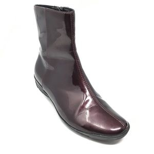 Aquatalia Ankle Boots Booties Size 5.5 Burgundy